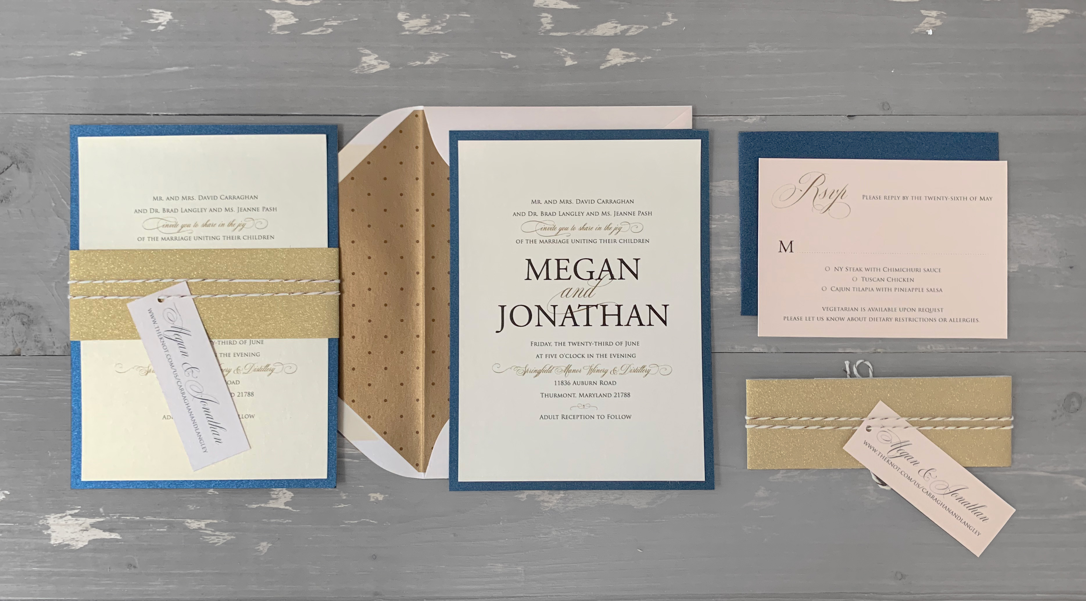 Classic Spin on a Wedding Invitation