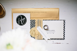 Modern Edge Wedding Invitation