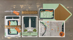 Philly Themed Wedding Invitation
