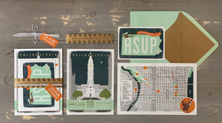 Philadelphia Themed Wedding Invitation