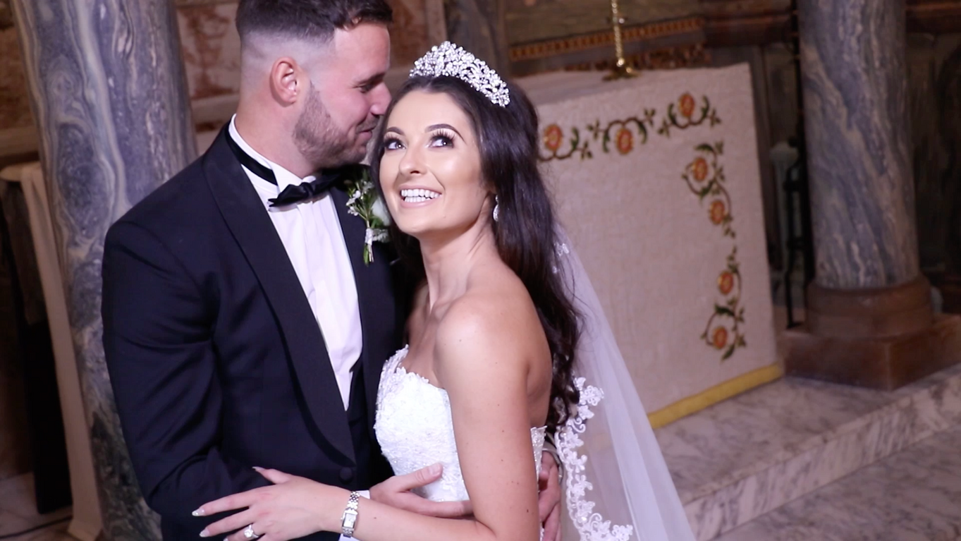 Bride and Groom wedding photo and video shoot at Wynyard Hall