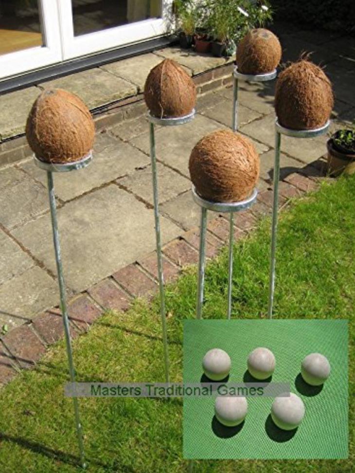 coconut shy outdoor fun wedding game