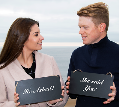Engaged Proposal Photography Couple Beach Venue North East Sunderland Newcastle