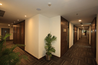 Secured & Private Offices  All the offices are private, secured, with proper signages on the door. There is green at each corner.  Need an office? Call 7604092334