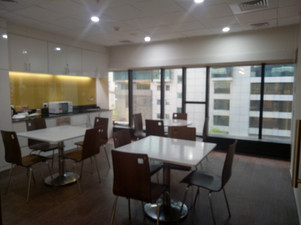 Break Out Area  Ideal place for employees to relax, eat their lunch and even hold informal meetings.  Need an office? Call 7604092334