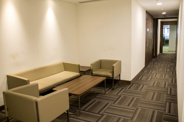 Quick Meeting Zone  Vendors, guests or customers sit here to do a short quick meeting.  Need an office? Call 7604092334