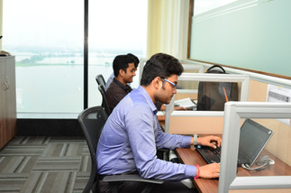 Office Workstations with a View  Most of the offices of Infinity Business Centre have a view of 1000 acre natural lake.  Need an office? Call 7604092334