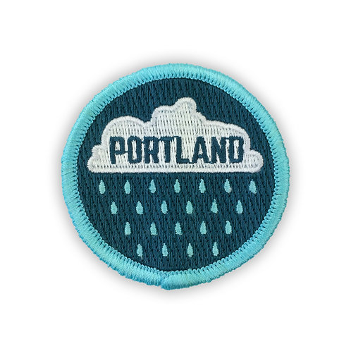 Portland Oregon Rain Drops Patch