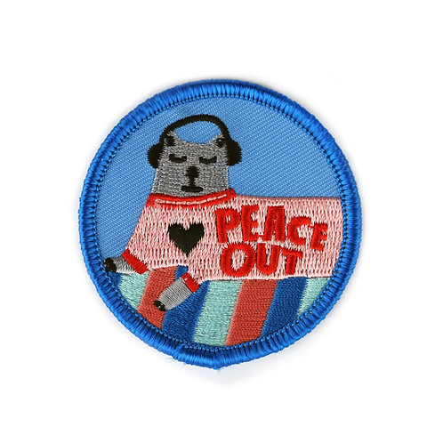 Peace Out Cat Patch