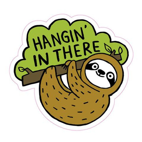 Hangin' in There Sloth Sticker