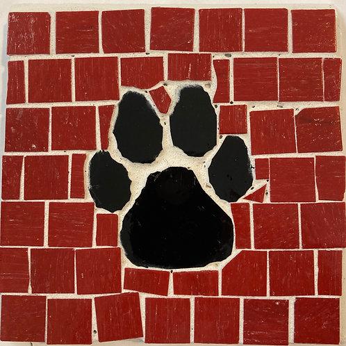 Dog Paw Mosaic