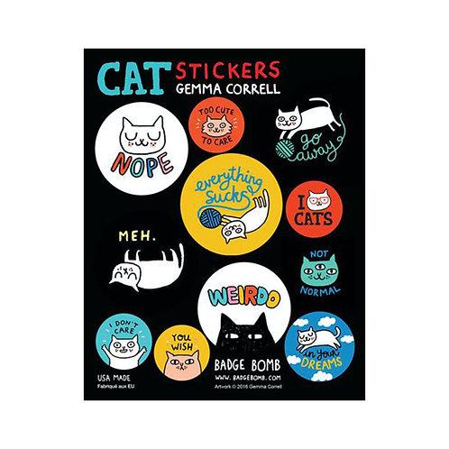 Cattitude Stickers