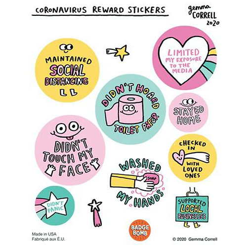 Corona Virus Reward Stickers