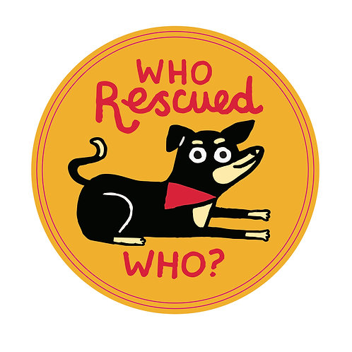 Who Rescues Who? Sticker