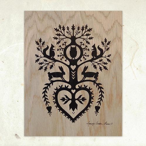 Owl Hollow Wood Print