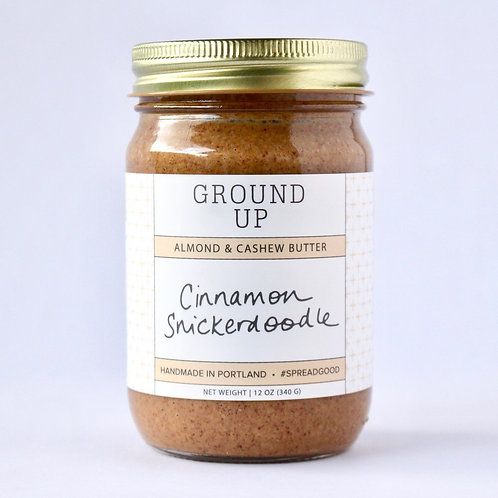 Cinnamon Snickerdoodle Almond Cashew Coconut Butter