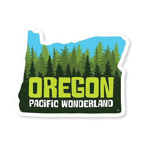 Oregon Pacific Wonderland Sticker