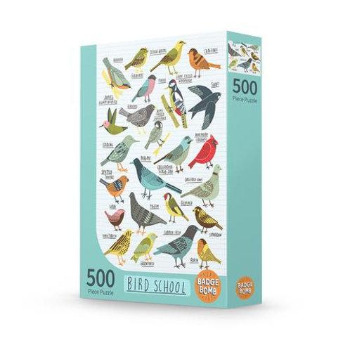 Bird School 500-Piece Puzzle