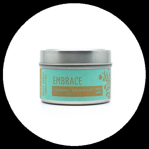 Embrace (Cedarwood & Bergamot Mint) Travel Candle