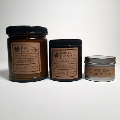 Marionberry and Sage 4oz Soy Candle