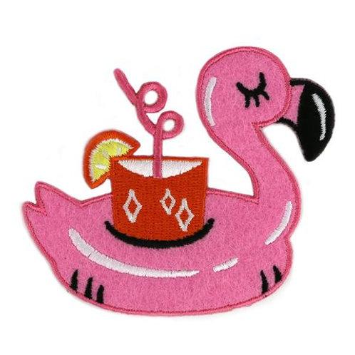 Flamingo Pool Floatie Felt Patch