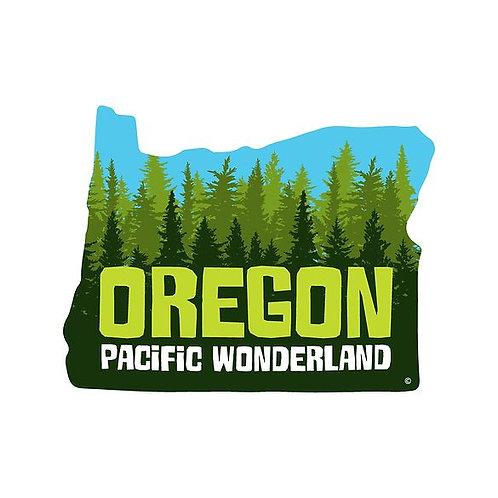 Oregon Pacific Wonderland Die-Cut Sticker