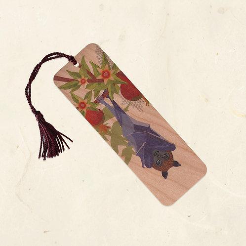 Fruit Bat & Pomegranate Bookmark