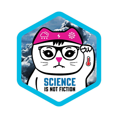 Science is Not Fiction Hex Sticker
