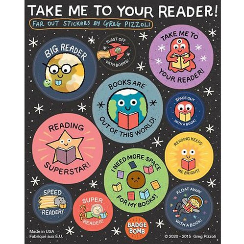 Take Me To Your Reader Sticker Sheets