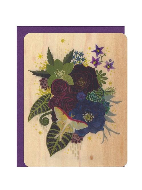 Luna Bouquet Wood Card