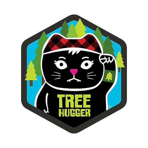 Tree Hugger Hex Die-Cut Sticker