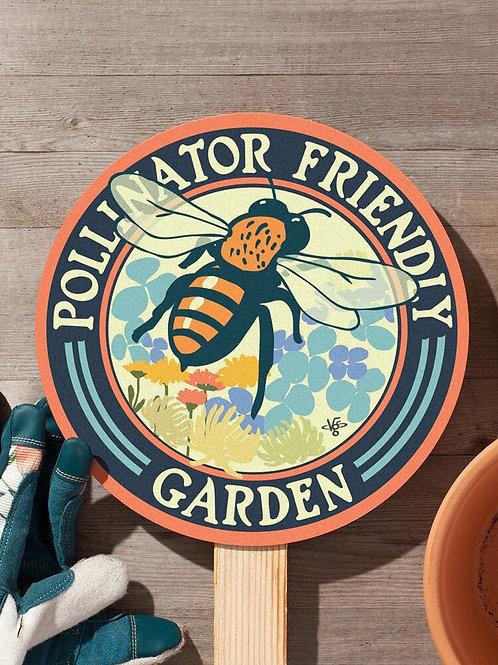 Bee Pollinator Friendly Garden Sign