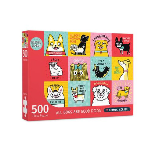 All Dogs Are Good Dogs 500 Piece Puzzle