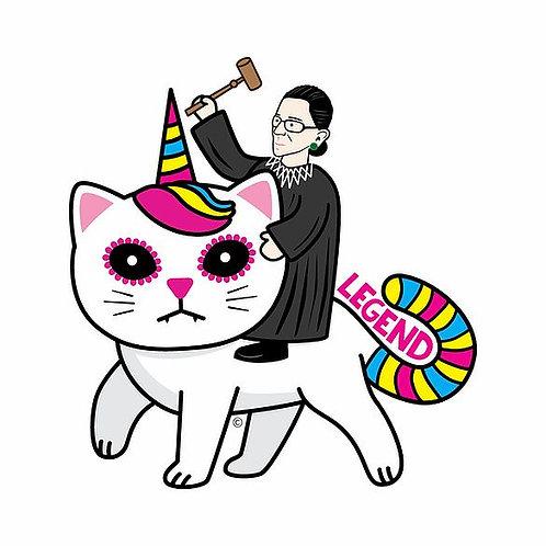 RBG Kitty Unicorn Die-Cut Sticker