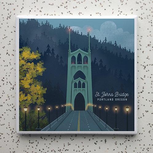 Night Bridge St Johns Coaster