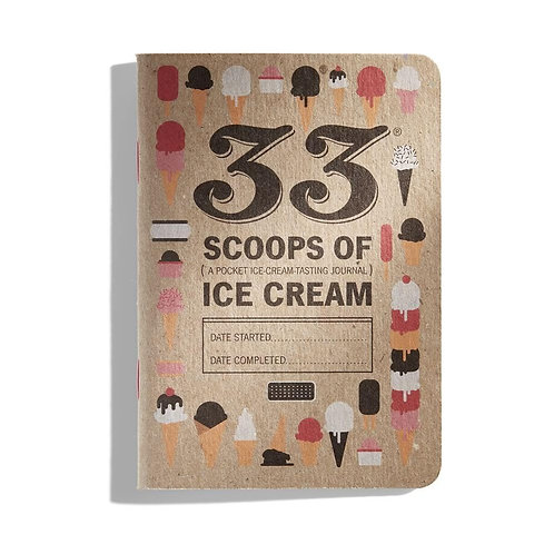 33 Scoops of Ice Cream Tasting Journal