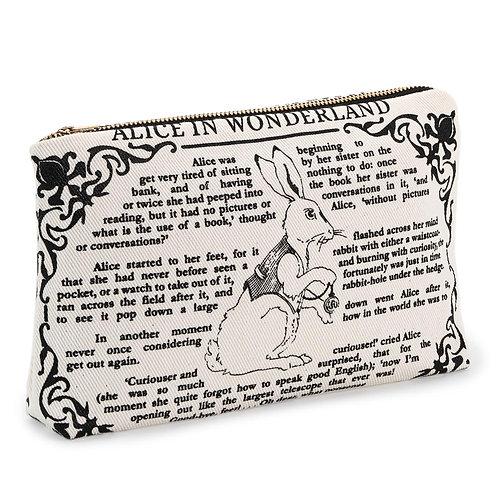 Alice in Wonderland Book Pouch