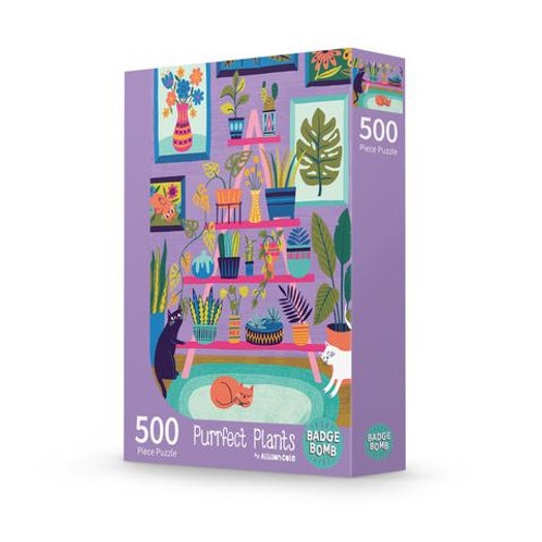 Purrfect Plants 500 Piece Puzzle
