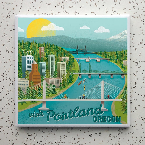 Portland Bridges Coaster
