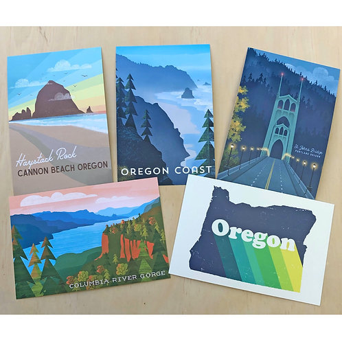 Oregon Postcard Set