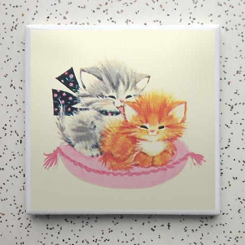 Kitty Cuddles Coaster