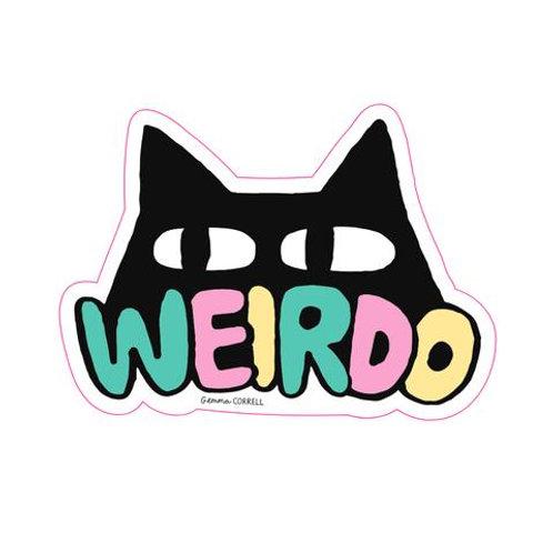 Weirdo Cat Sticker