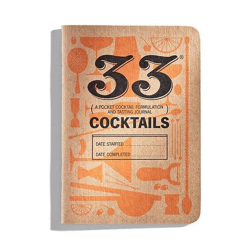 33 Cocktails Tasting Journal