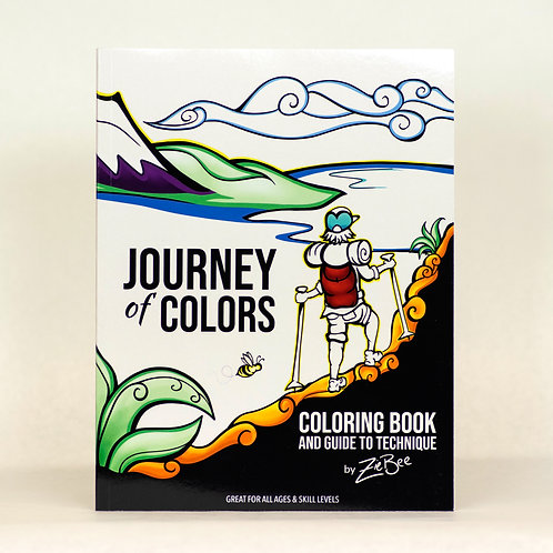 Journey of Colors Coloring Book and Guide to Technique