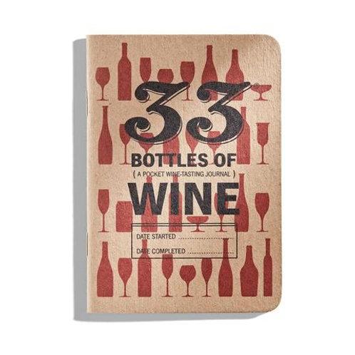 33 Bottle of Wine Tasting Journal