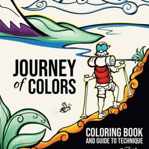 Coloring Book and Guide to Technique: Journey of Colors