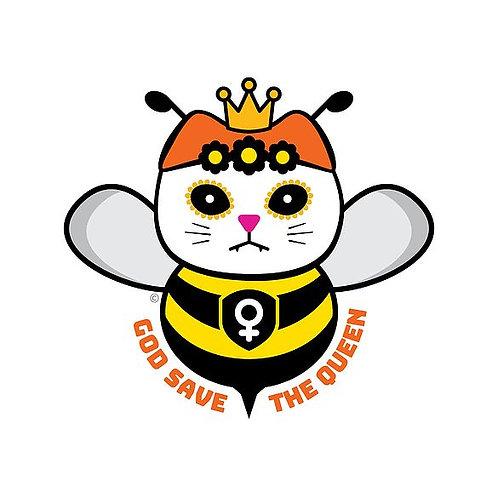 God Save the Queen Die-Cut Sticker