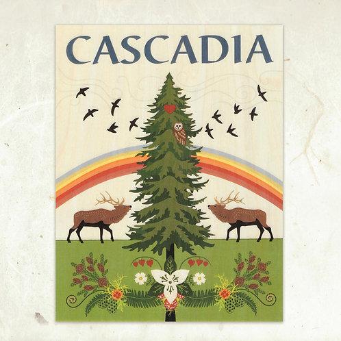 Cascadia Wood Print