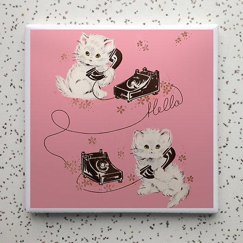 Kitty Telephone Coaster