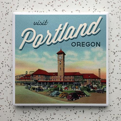Portland Train Station Coaster
